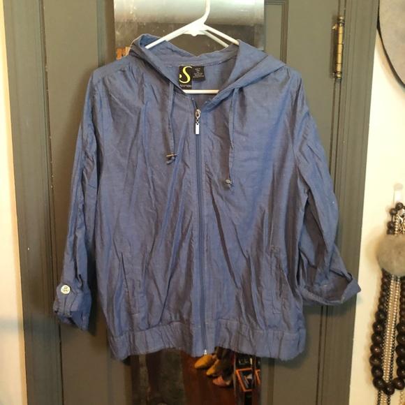 Sportelle Jackets & Blazers - Lightweight zippered jacket with hood